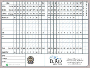 El Rio Golf Club Scorecard