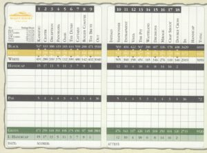 Mojave Resort Golf Club Scorecard
