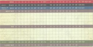 Huukan Golf Club Scorecard
