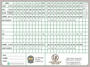 Laughlin Ranch Golf Club Scorecard
