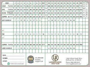 Laughlin Ranch Golf Club Scorecard